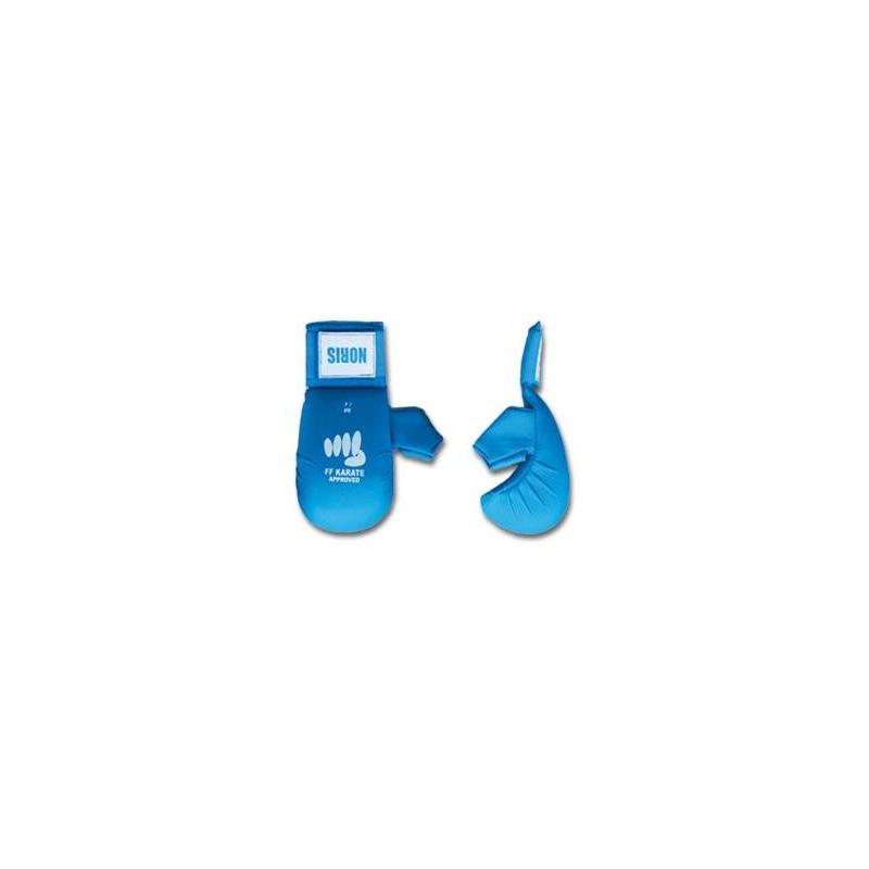 Gants bleu karaté avec pouce