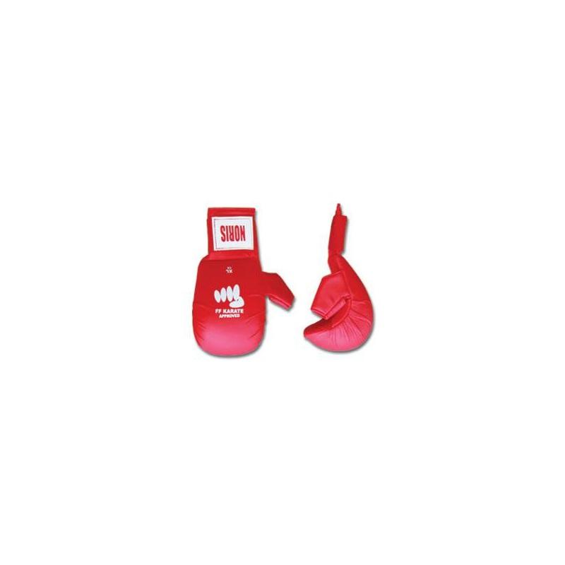Gants Rouge karaté avec pouce