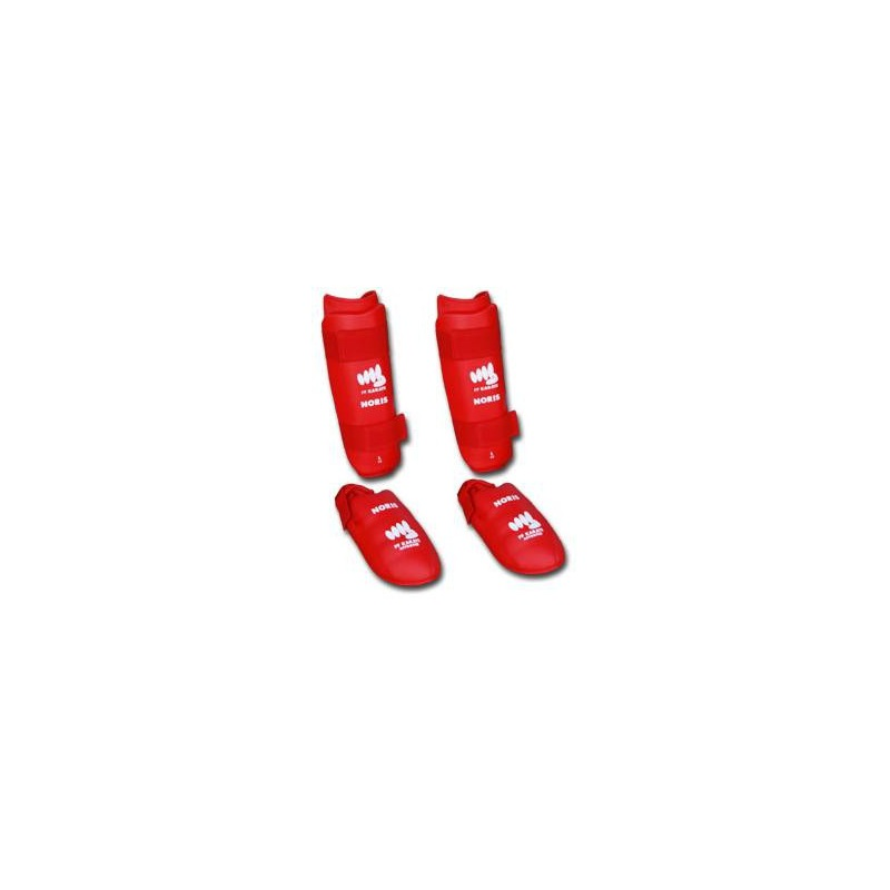 Protection Tibias Pieds Rouges
