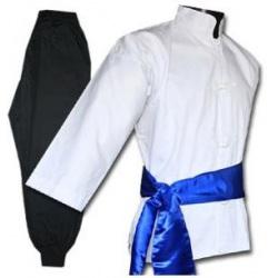 Tenue Kung Fu - Veste Blanche - Pantalon NOIR
