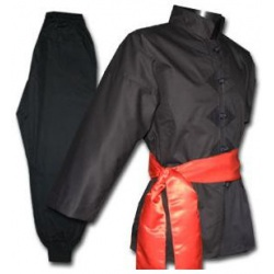 Tenue Kung Fu Noire Traditionnelle